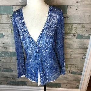 Nic and Zoe linen blend cardigan size small